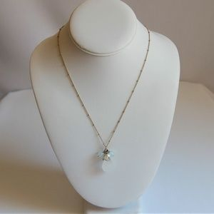 Beautiful  Avon Gold Bead Station Chain Necklace